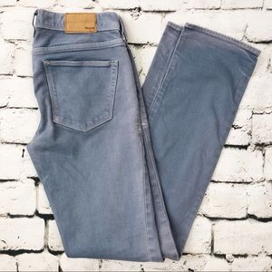 Madewell Rail Straight Light Wash Blue Jeans
